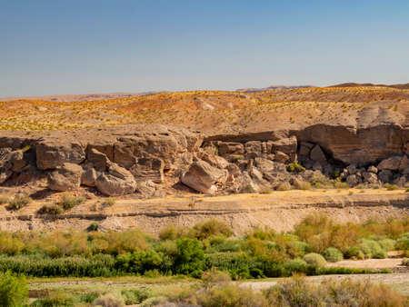 Beautiful nature landscape around Bluff Trail of Lake Mead, Las Vegas, Nevada Stock Photo