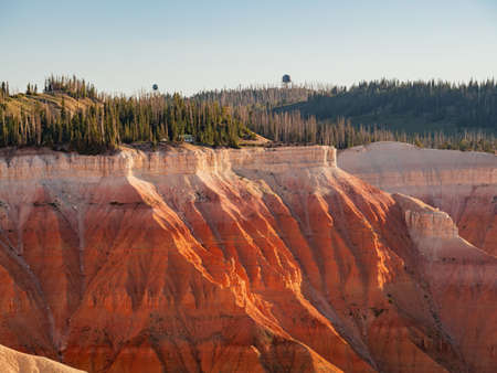 Beautiful landscape saw from Sunset View Overlook of Cedar Breaks National Monument at Utah, USA Zdjęcie Seryjne