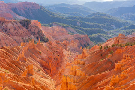 Beautiful landscape saw from Sunset View Overlook of Cedar Breaks National Monument at Utah, USA