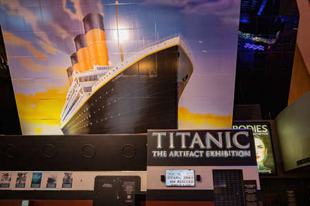 Las Vegas, SEP 15, 2020 - Titanic The Artifact Exhibition closed due to Pandemic