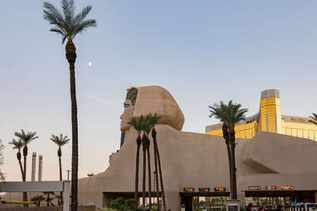 Las Vegas, SEP 25, 2020 - Afternoon view of the Luxor Hotel & Casino