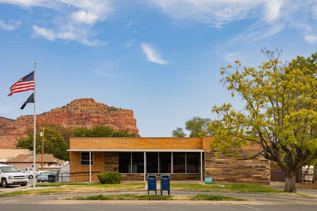 Utah, OCT 7, 2020 - Exterior view of The Kanab United States Post Office