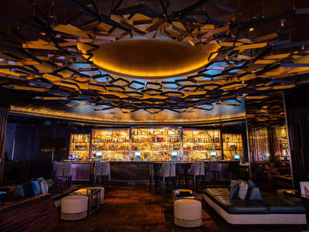 Las Vegas, JAN 26, 2021 - Interior view of the Cosmopolitan Casino