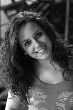Beautiful model girl with priceless smile and natural hair black and white