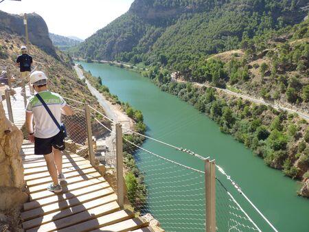 Royal Trail (El Caminito del Rey) in gorge Chorro, Malaga province