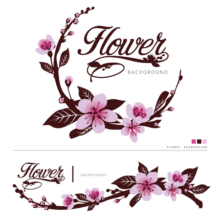 Flower vector logo background