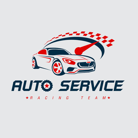 Auto racing logo,Car logo, Vector Logo Template. Çizim