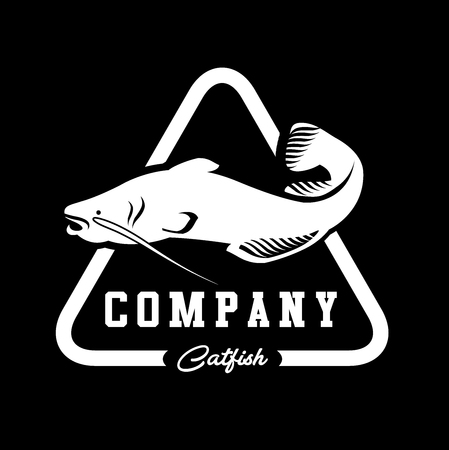 Catfish professional modern logo vector | Fish logo vector | Fishing river flat catfish logo vector