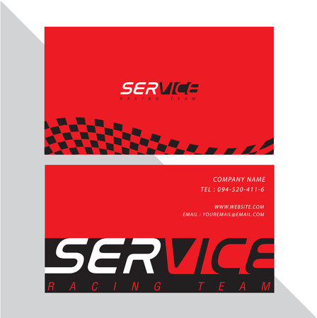 Business card design for racing sport concept illustration.