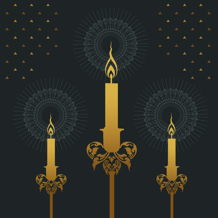 Royal candle image illustration