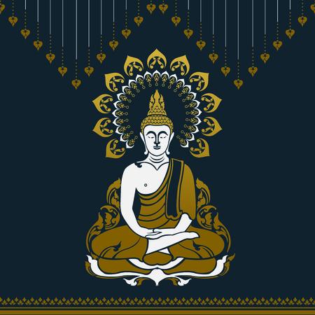 Buddha outline image illustration Stock Vector - 97109230