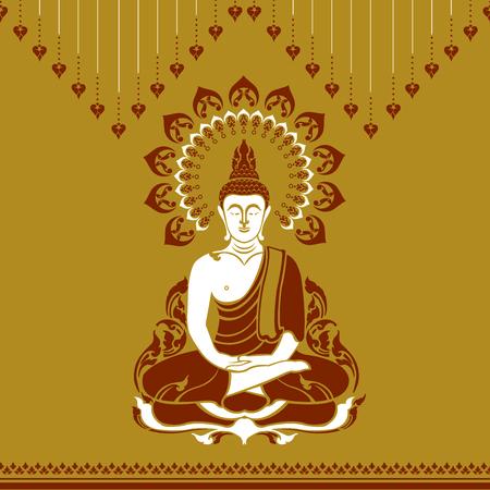 Buddha outline image illustration Stock Vector - 97109228