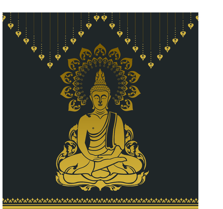 Buddha outline image illustration Illustration