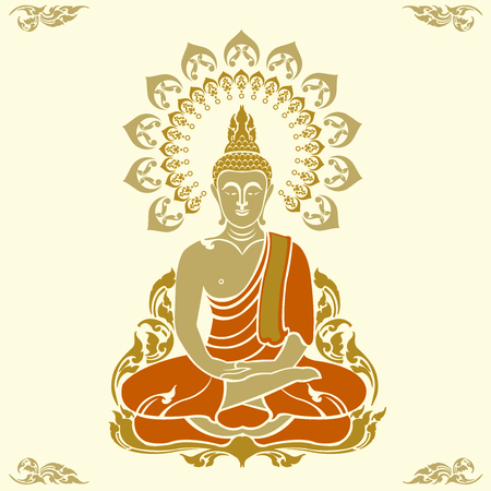 Buddha outline image illustration Stock Vector - 97109232
