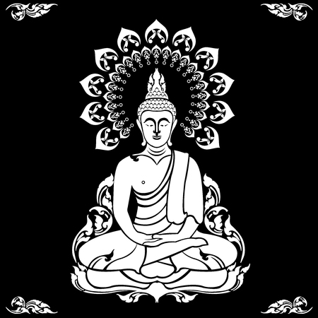 Buddha outline image illustration Stock Vector - 97109233