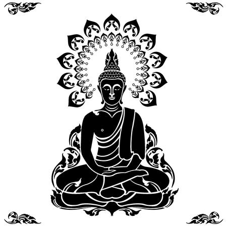 Buddha outline image illustration Ilustração
