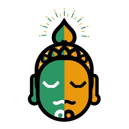 Buddha outline image illustration Stock Vector - 97109236