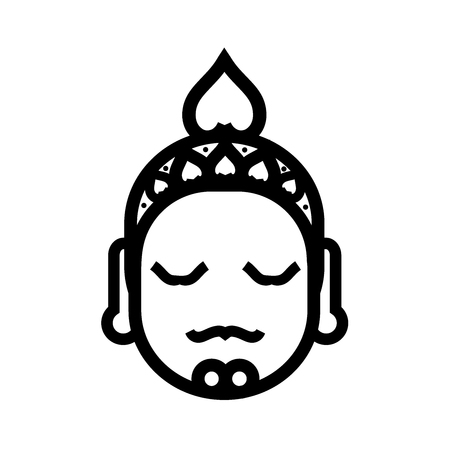 Buddha outline image illustration Illustration