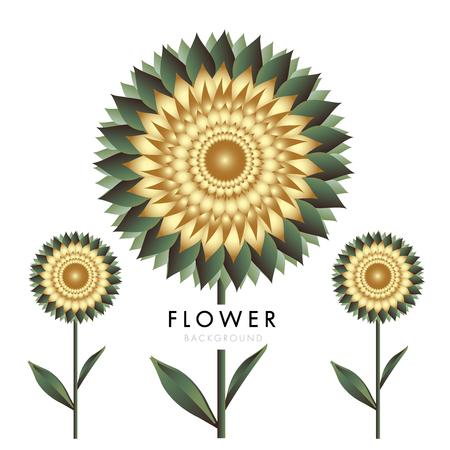 Flower vector logo template vector illustration Illusztráció