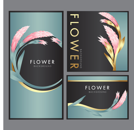 Colored flowers vector illustration background. Ilustrace