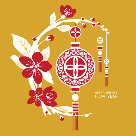 Chinese New Year Vector background Illustration