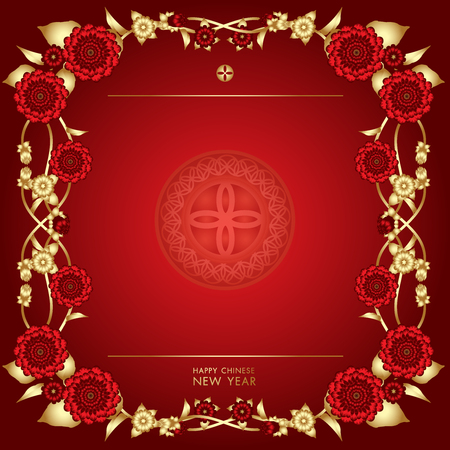 Chinese New Year vector background. 向量圖像