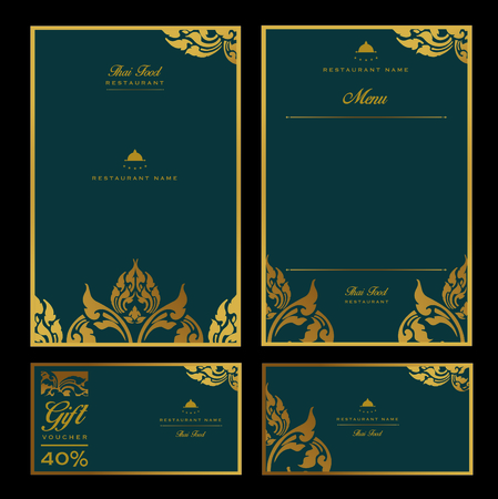 Brochure or flyer template with floral pattern. Vector illustration. Stock Illustratie