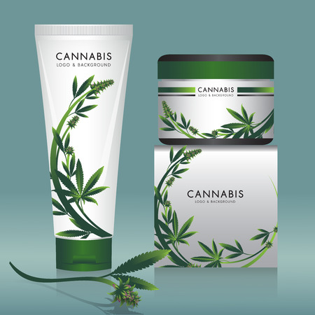 Cannabis marijuana Packaging product label and icon graphic template. Imagens - 100125311