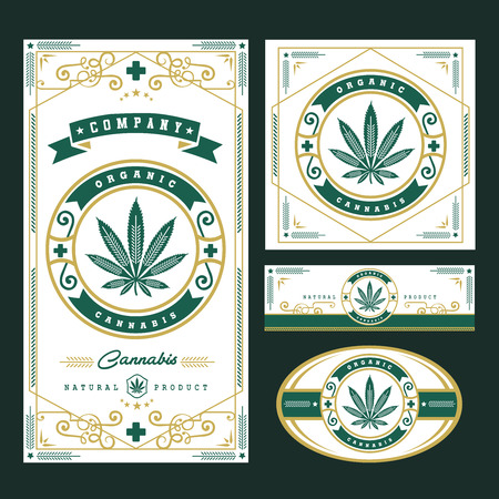 marijuana, cannabis logo graphics Vector illustration. Illustration