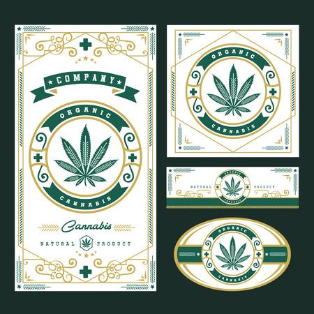 marijuana, graphiques de logo de cannabis Illustration vectorielle.