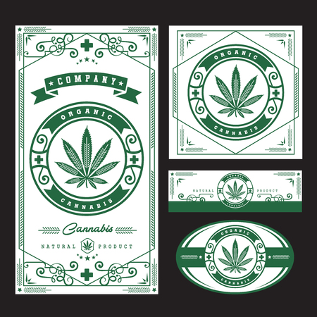 marijuana  cannabis logo graphics Vector illustration.