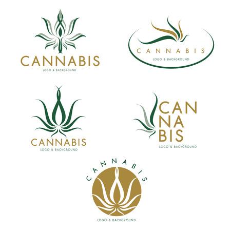 Marijuana, illustration vectorielle de cannabis icône graphique.