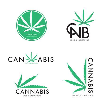 Marihuana, Cannabis-Logo-Grafikset