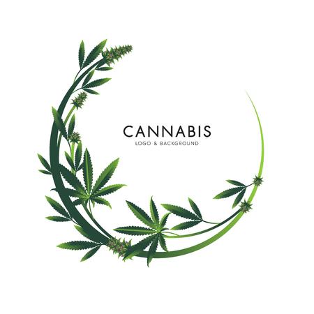 Marijuana, illustration graphique d'icône de cannabis. Vecteurs