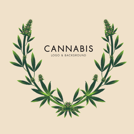 Marijuana, cannabis icon graphics illustration.