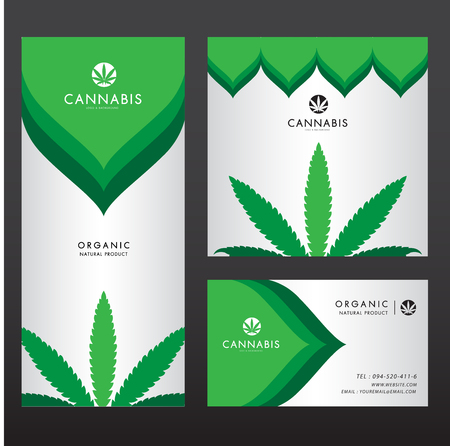 marijuana , cannabis logo graphics Illustration