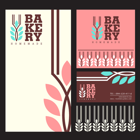 Bakery menu template logo vector illustration design