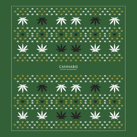Cannabis marijuana patturn background vector
