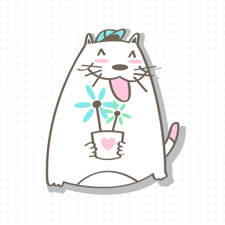 Cat cartoon vector