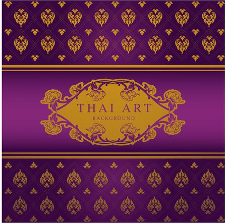 Thai Art Pattern Background vector