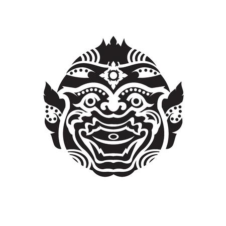 Vector  Hanuman, thai monkey