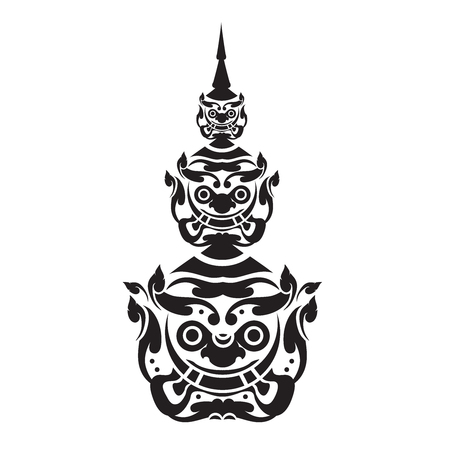 Ramayana Giant of thailand Vettoriali