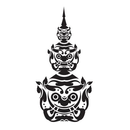 Ramayana Giant of thailand Illustration