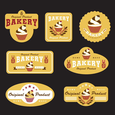 cupcake and bakery vector illustration design