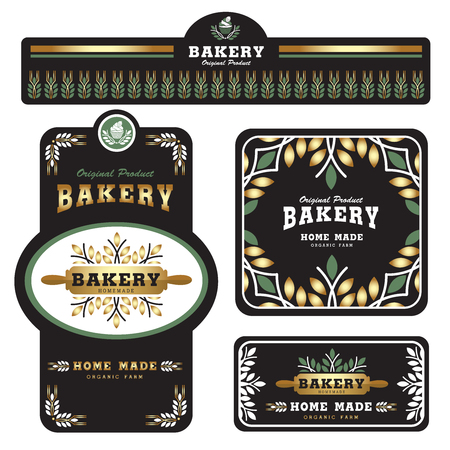 Bakery Branding template and packaging design Vettoriali
