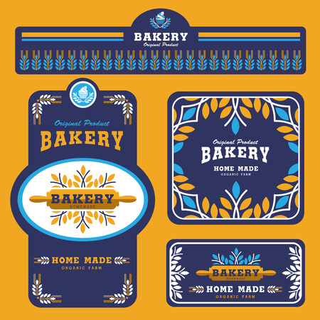 Bakery Branding template and packaging design 矢量图像