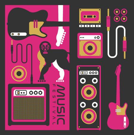 music festival vector  background 矢量图像