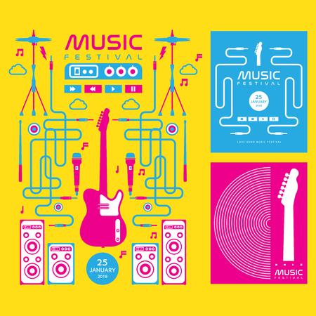 music festival vector  background Vettoriali