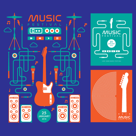 music festival vector  background Illustration