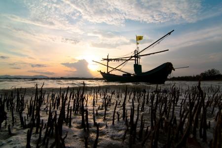 crepuscle: Fishing boat